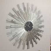 """Для дома и интерьера ручной работы. Ярмарка Мастеров - ручная работа Настенные часы """"Солнечное затмение"""". Handmade."""