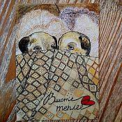 Открытки ручной работы. Ярмарка Мастеров - ручная работа Открытка: Вместе теплее. Handmade.