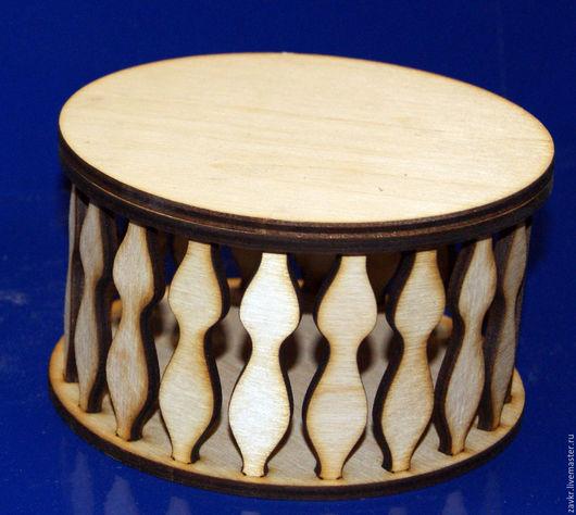 Заготовка для декорирования деревянная Шкатулка круглая 16см
