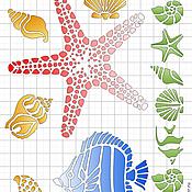Материалы для творчества ручной работы. Ярмарка Мастеров - ручная работа Трафарет Морской А5. Handmade.
