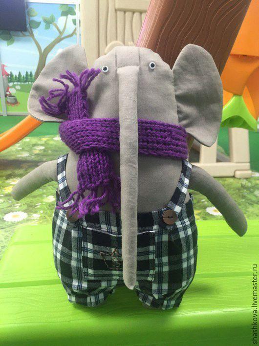 """Коллекционные куклы ручной работы. Ярмарка Мастеров - ручная работа. Купить игрушка текстильная """"Слон Аркадий"""". Handmade. Для детской комнаты"""