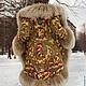"""Верхняя одежда ручной работы. Заказать Зимнее пальто """"Машенька и медведи"""".. Алёна. Ярмарка Мастеров. Павловопосадский платок, зимнее пальто"""