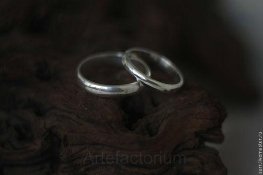 Свадебные украшения ручной работы. Ярмарка Мастеров - ручная работа. Купить Классическое обручальное кольцо из серебра (№№114-117). Handmade.
