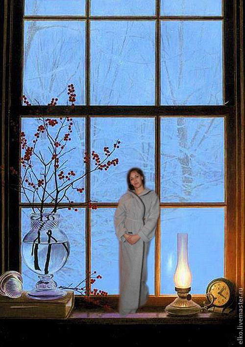 """Халаты ручной работы. Ярмарка Мастеров - ручная работа. Купить """"Согреться в холода"""" теплый, уютный халат. Handmade. Серый, в холода"""