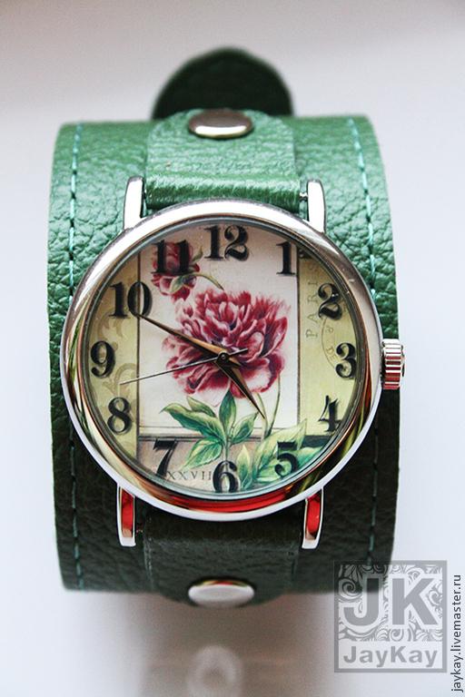 """Часы ручной работы. Ярмарка Мастеров - ручная работа. Купить Часы наручные JK """"Пион"""". Handmade. Часы наручные"""