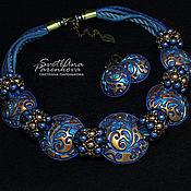 Украшения handmade. Livemaster - original item Necklace made of polymer clay, beads Blizzard (584). Handmade.