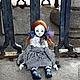 """Коллекционные куклы ручной работы. Ярмарка Мастеров - ручная работа. Купить Будуарная кукла """"Луиза"""". Handmade. Тёмно-синий, кружева"""