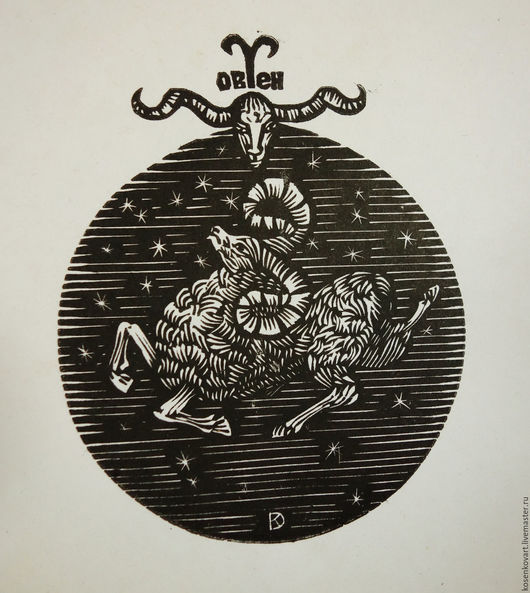 Животные ручной работы. Ярмарка Мастеров - ручная работа. Купить Овен. Handmade. Черный, Зодиак, овен, гороскоп, знаки зодиака