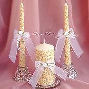 Свадебный салон ручной работы. Ярмарка Мастеров - ручная работа Свадебные Свечи Версаль. Handmade.