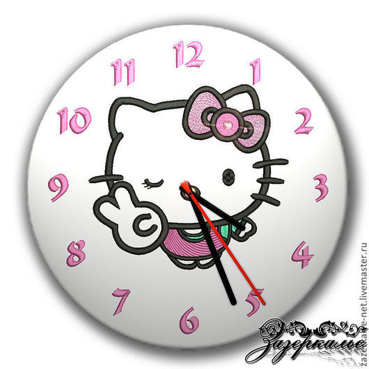 """Детская ручной работы. Ярмарка Мастеров - ручная работа. Купить Часы """"Hello Kitty"""" со стразами. Handmade. Розовый"""