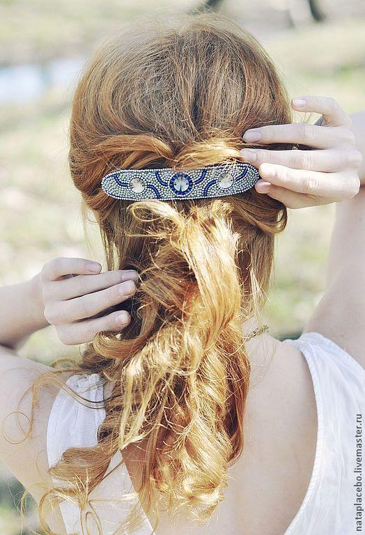 Фотограф Оля Федорова  серый, заколка-автомат, заколка-автомат для волос, заколка-автомат купить