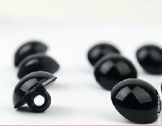 Куклы и игрушки ручной работы. Ярмарка Мастеров - ручная работа. Купить Пуговки для глаз - 12 мм.. Handmade. Черный, Пуговки