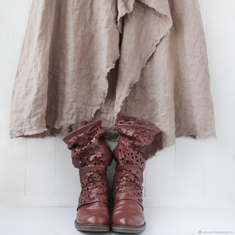 Luxury linen skirt in boho style, Skirts, Tomsk,  Фото №1