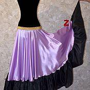 Одежда ручной работы. Ярмарка Мастеров - ручная работа Цыганская юбка Лаванда. Handmade.