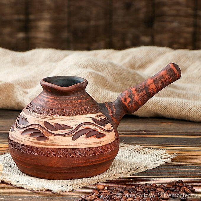 Turka-dzhezva 'Potter' angob 700ml, Turks, Feodosia,  Фото №1