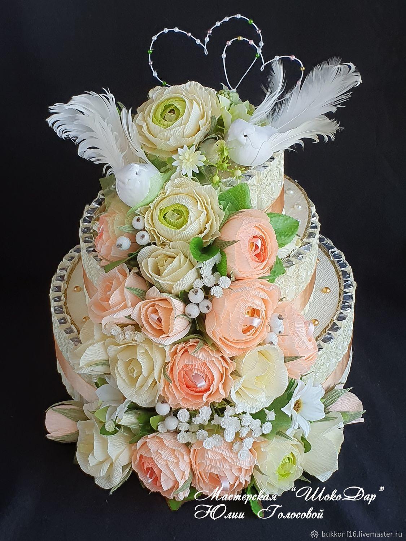 Свадебный торт из шоколада и конфет, Подарки, Мытищи,  Фото №1