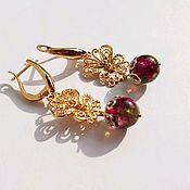 Украшения handmade. Livemaster - original item Butterfly earrings with tourmalines. Handmade.