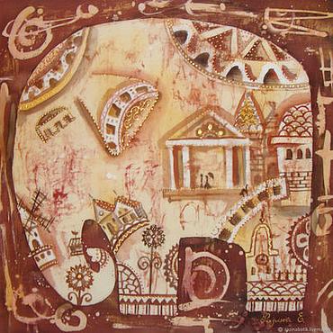 Картины и панно ручной работы. Ярмарка Мастеров - ручная работа Пока спят слоны..... Handmade.