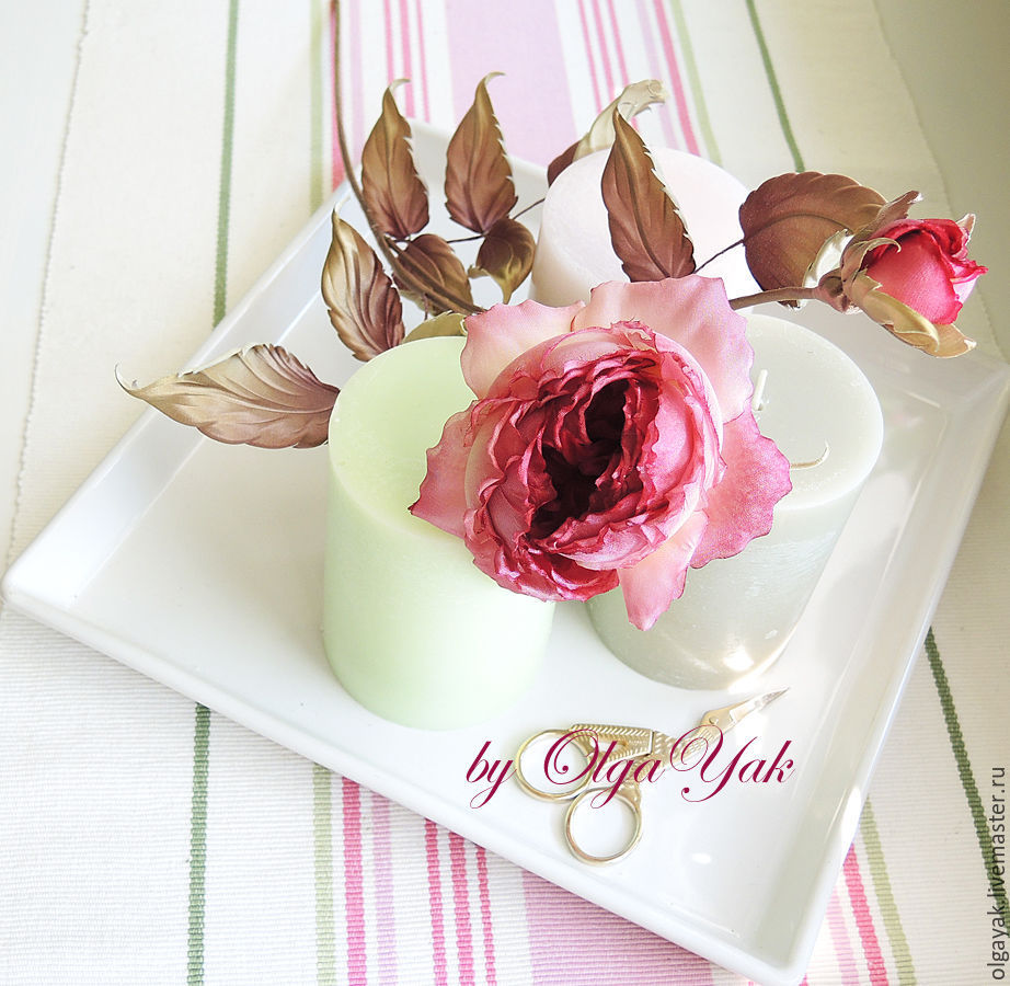 Цветы из ткани. Роза Dancing Queen, Цветы, Обнинск,  Фото №1