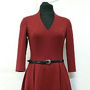 Одежда ручной работы. Ярмарка Мастеров - ручная работа 011: повседневное платье миди, офисное платье миди. Handmade.