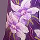 """Платья ручной работы. Ярмарка Мастеров - ручная работа. Купить платье валяное """"Ночные орхидеи"""". Handmade. Фиолетовый, орхидеи"""