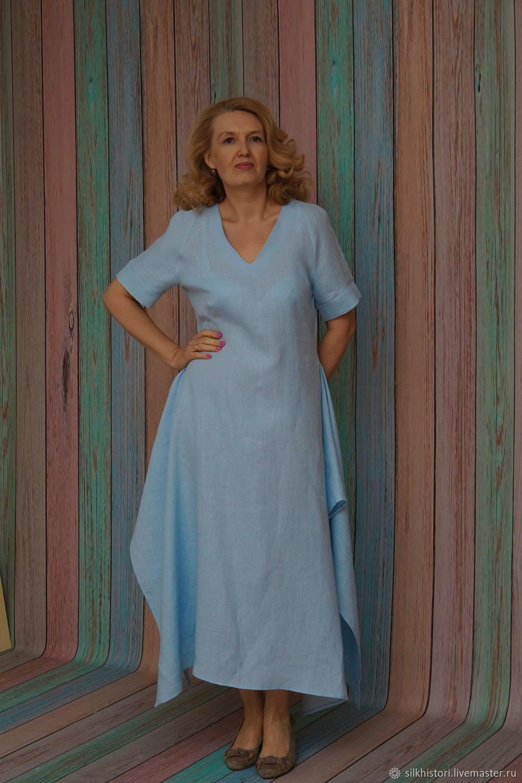 Blue linen dress, Hope, Dresses, Kursk,  Фото №1