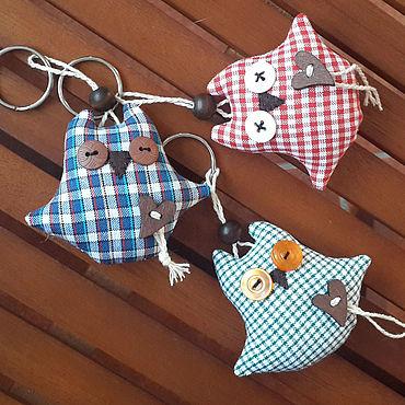 Куклы и игрушки ручной работы. Ярмарка Мастеров - ручная работа Совы-брелочки для ключей и сумок. Handmade.
