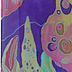 """Шарфы и шарфики ручной работы. Ярмарка Мастеров - ручная работа. Купить батик шарф """"Воспоминания о Климте"""". Handmade. Разноцветный"""