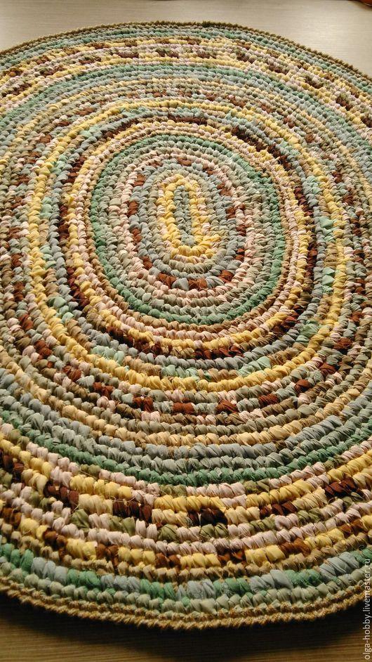 """Текстиль, ковры ручной работы. Ярмарка Мастеров - ручная работа. Купить Коврик """"Фисташки и ваниль"""". Handmade. Комбинированный, для дома, подарок"""