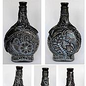 Посуда ручной работы. Ярмарка Мастеров - ручная работа Декоративная бутылка Фантазия. Handmade.