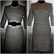 handmade. Livemaster - original item 100% linen yarn .Dress Classic. Handmade.