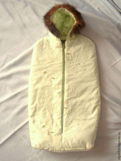 Для новорожденных, ручной работы. Ярмарка Мастеров - ручная работа Конверт детский меховой зимний. Handmade.