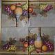 Декупаж и роспись ручной работы. Ярмарка Мастеров - ручная работа. Купить Натюрморт с вином и виноградом. Салфетка. Handmade. Салфетка для декупажа