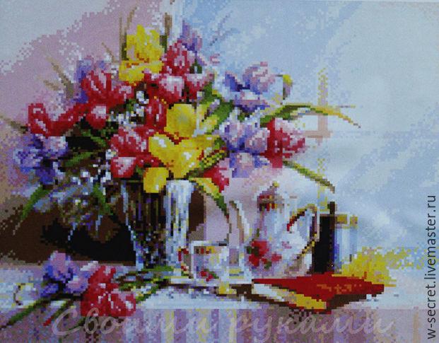 Алмазная мозаика цветы