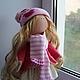 Коллекционные куклы ручной работы. Интерьерная текстильная кукла. Алевтина. Интернет-магазин Ярмарка Мастеров. Кукла ручной работы, нежность