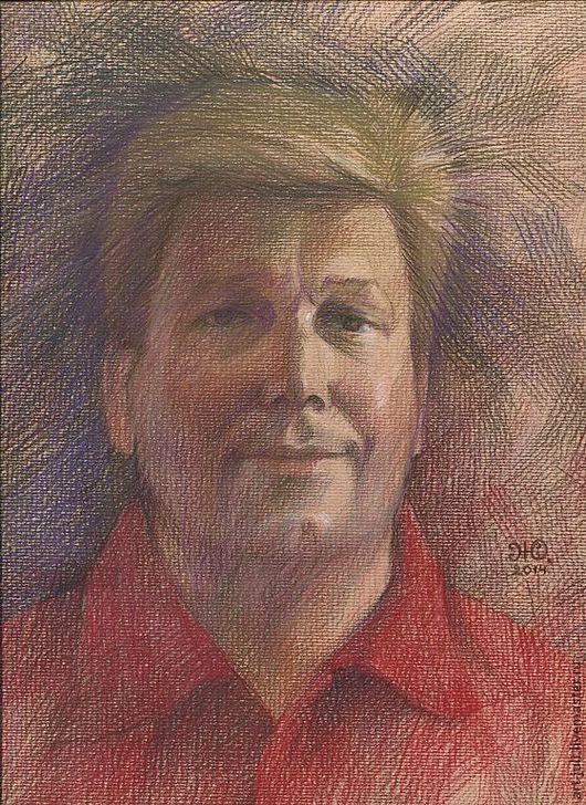 Люди, ручной работы. Ярмарка Мастеров - ручная работа. Купить мужской портрет по фотографии. Handmade. Портрет по фото, портрет по фотографии
