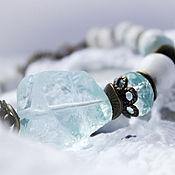 Украшения ручной работы. Ярмарка Мастеров - ручная работа Белые льды - браслет. Handmade.