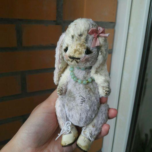 Мишки Тедди ручной работы. Ярмарка Мастеров - ручная работа. Купить Тедди зайка плюшевая заец винтажный и нежная , девочка заенька. Handmade.