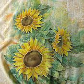 """Одежда ручной работы. Ярмарка Мастеров - ручная работа Авторская блуза """"Солнечный цветок"""" - батик. Handmade."""