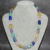 Работы для детей, handmade. Livemaster - original item Beads made of natural stones with a cut. Handmade.