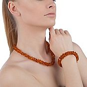 Работы для детей, handmade. Livemaster - original item Beads amber natural stone amber necklace honey cognac. Handmade.
