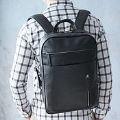 handmade. Livemaster - original item Leather backpack for men