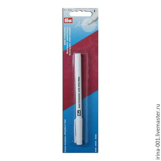 Шитье ручной работы. Ярмарка Мастеров - ручная работа. Купить PRYM. Аква-маркер белый (фломастер) 611824. Handmade.