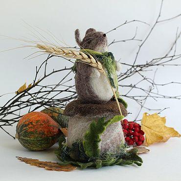 Куклы и игрушки ручной работы. Ярмарка Мастеров - ручная работа Игольница: мышка-норушка. Handmade.