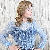 Одежда ручной работы. Ярмарка Мастеров - ручная работа Блузка из итальянского гипюра. Handmade.