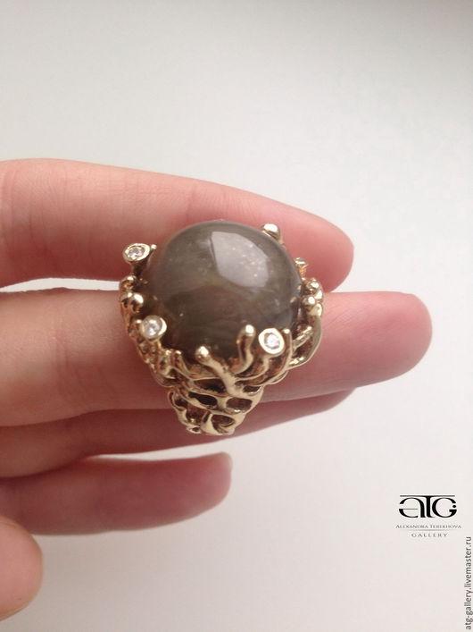 Сделаю на заказ. Роскошное золотое кольцо с великолепным природным сапфиром 74.81 Carat
