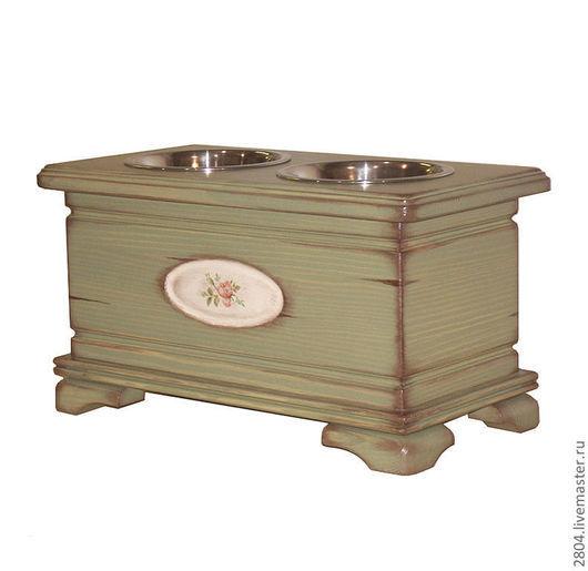 Аксессуары для собак, ручной работы. Ярмарка Мастеров - ручная работа. Купить Мебель для собак и кошек. (19) Подставка под миски. Handmade.