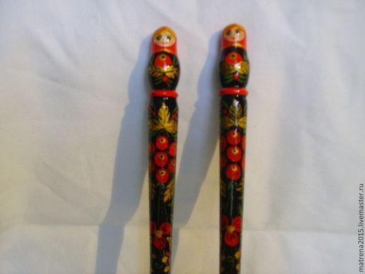Сувениры ручной работы. Ярмарка Мастеров - ручная работа. Купить Ручка  из дерева  под хохлому ручная работа Ярмарка мастеров matrena2. Handmade.