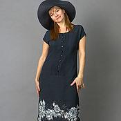 Одежда handmade. Livemaster - original item Copy of Copy of Vertical - dress, hand painted puse silk.. Handmade.