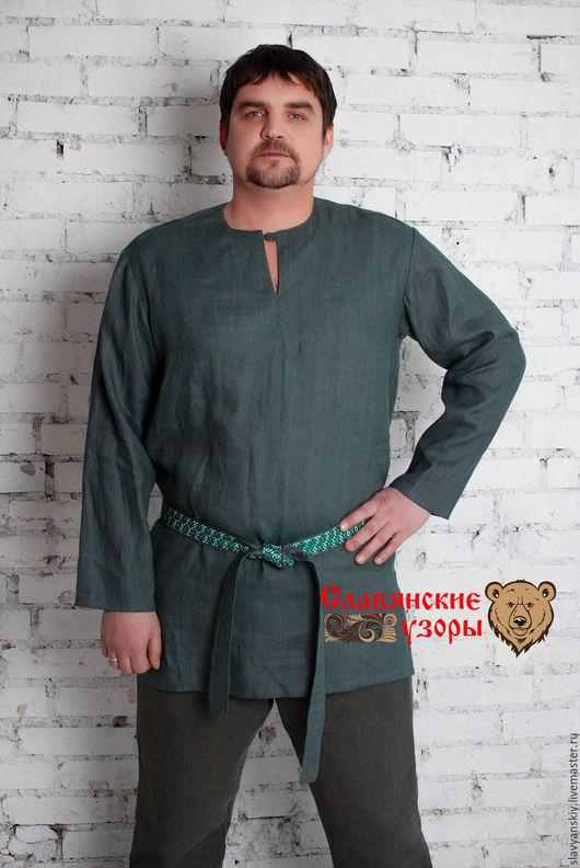 Одежда ручной работы. Ярмарка Мастеров - ручная работа. Купить Рубаха Добрыня Никитич. Handmade. Темно-серый, рубаха мужская